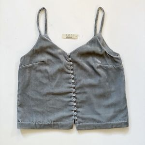 Madewell grey velvet camisole top size 0 NWT